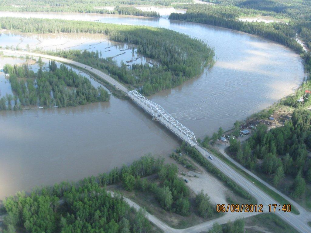 New Bridge Construction Upper Liard