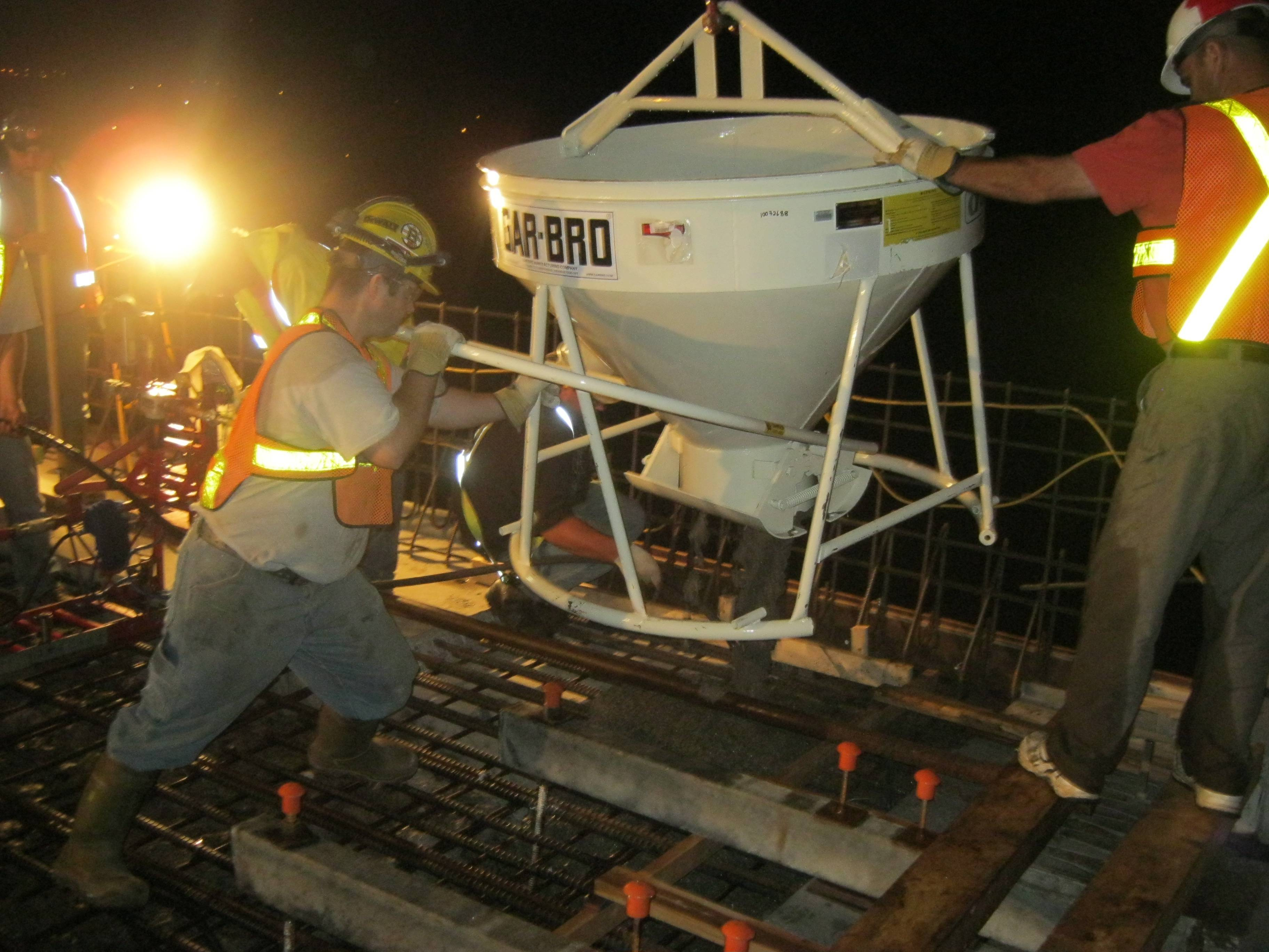 concrete forming and placing services nightshift