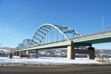 new bridge construction peace river